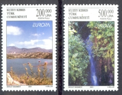 Turkey Northern Cyprus Sc# 521-522 MNH 2001 Europa - Other