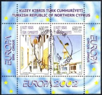 Turkey Northern Cyprus Sc# 543 FD Cancel Souvenir Sheet 2002 Europa - Other