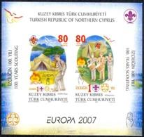Turkey Northern Cyprus Sc# 635a MNH Souvenir Sheet 2007 Europa - Other