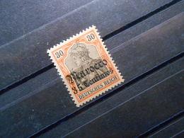 DR Mi 26 - 35C Auf 30Pf*MLH - Deutsche Auslandspostämter (MAROKKO) 1905 - Mi 12,00 € - Oficina: Marruecos
