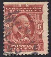 USA Sc# 305 Used 1903 6c Claret James A. Garfield - Oblitérés
