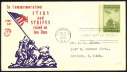 USA Sc# 929 (cachet) FDC (c) (Washington, DC) 1945 7.11 Iwo Jima - 1941-1950