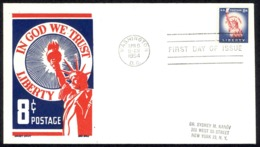USA Sc# 1041 (Cachet Craft) FDC (a) (Washington, DC) 1954 4.9 Statue Of Liberty - Premiers Jours (FDC)