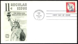 USA Sc# 1044A (Fleetwood) FDC (a) (Washington, DC) 1961 6.15 Statue Of Liberty - Premiers Jours (FDC)