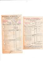 SINT-TRUIDEN-2 LEVERINGSBONNEN-1957-COCA-COLA-MODERNE AFTREKKERIJ-GAZOMETERSTRAAT-MOOI ! ! ! - 1950 - ...
