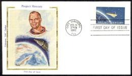 USA Sc# 1193 (Colorano Silk Cachets) FDC (f) (Cape Canaveral, FL) 1962 2.20 Project Mercury - Premiers Jours (FDC)