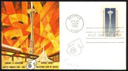 USA Sc# 1196 (Collectors Club Of Seattle Cachet) FDC (c) (Seattle, WA) 1962 4.25 Seattle World's Fair - Premiers Jours (FDC)