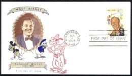 USA Sc# 1355 (Jackson Cachet) FDC (a) (Marceline, MO) 1968 9.11 Walt Disney - Premiers Jours (FDC)