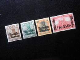 D.R Mi 46/47/50lla/55llBb*MLH  - Deutsche Auslandpostämter ( MAROKKO ) 1918 - Mi 6,90 € - Offices: Morocco