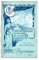"""PROGRAMME . THÉÂTRE LYRIQUE DE LA GAÎTÉ . """" MIREILLE """". Mlle GUIONIE, M. JOLBERT . CHARLES GOUNOD - Réf. N° 42P - - Programmes"""