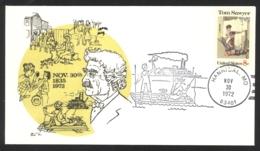 USA Sc# 1470 (cachet) FDC (g) (Hannibal, MO) 1972 10.13 Tom Sawyer - Premiers Jours (FDC)
