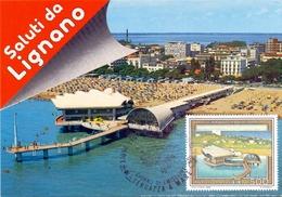 LIGNANO TERRAZZA A MARE  1988 MAXIMUM POST CARD (GENN200492) - Geografia