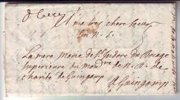 DE CAEN Calvados Mars 1700 Lettre De Religieuse TRES RARE LETTRE DU 17 Eme Siecle , SUPERBE TEXTE DE 3 Pages - Postmark Collection (Covers)
