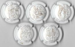 Série De 5 Capsules De Champagne  - GENERIQUE (Racines 2020) - Colecciones