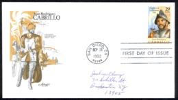 USA Sc# 2704 (Artmaster) FDC (San Diego, CA) 1992 9.28 Juan Rodriguez Cabrillo - FDC