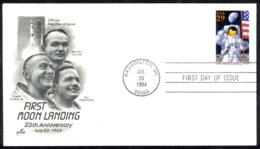 USA Sc# 2841a (ArtCraft) FDC (b) (Washington, DC) 1994 7.20 Apollo 11 25th - Premiers Jours (FDC)