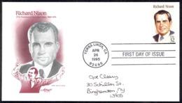 USA Sc# 2955 (Artmaster) FDC (Yorba Linda, CA) 1995 4.26 Richard Nixon - First Day Covers (FDCs)
