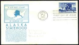 USA Sc# C53 (C. Stephen Anderson) FDC (b) (Juneau, AK) 1959 1.3 Alaska Statehood - Premiers Jours (FDC)