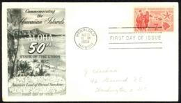 USA Sc# C55 (Fleetwood) FDC (b) (Honolulu, HI) 1959 8.21 Hawaii Statehood - Premiers Jours (FDC)