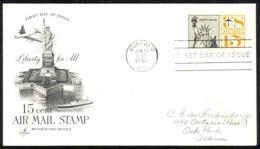 USA Sc# C63 (ArtCraft) FDC (a) (Buffalo, NY) 1961 1.13 15c Statue Of Liberty - Premiers Jours (FDC)