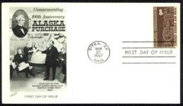 USA Sc# C70 (Fleetwood) FDC (b) (Sitka, AK) 1967 3.30 Alaska Purchase - Premiers Jours (FDC)