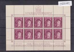 Generalgouvernement (GG) Kopernikus, **, Kleinbogen I/4 - Occupation 1938-45