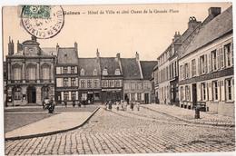GUINES-HOTEL DE VILLE ET COTE OUEST DE LA GRANDE PLACE - Guines