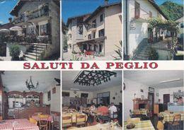 SALUTI DA PEGLIO - COMO - 6 VEDUTE - TABACCHERIA / TRATTORIA / BAR CON MACCHINA DEL CAFFE' - 1996 - Como