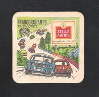 Bierviltje - Sous-bock - Bierdeckel  STELLA ARTOIS - FRANCORCHAMPS - 22-23 / 7 / 1972  (B 1009) - Sous-bocks