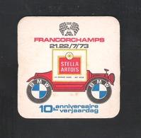Bierviltje - Sous-bock - Bierdeckel  STELLA ARTOIS - FRANCORCHAMPS - 21-22 / 7 / 1973  - 10 E VERJAARDAG (B 1010) - Sous-bocks