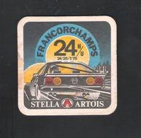 Bierviltje - Sous-bock - Bierdeckel  STELLA ARTOIS - 24 H/U FRANCORCHAMPS - 24-25 / 7 / 1976  (B 1012) - Sous-bocks