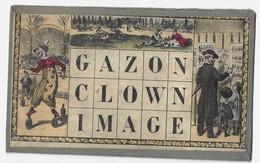 JEU DE LOTO, CARTON TRES ANCIEN -  ILLUSTRATION , GAZON, CLOWN, IMAGE, VOIR LES SCANNERS - Jouets Anciens