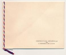 """FRANCE - Carte De Voeux """"Inspection Générale De L'Armée De L'Air"""" - Enveloppe Pour USA 1955, Puce 2 - Documents"""
