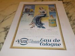 ANCIENNE PUBLICITE EAU DE COLOGNE  4711  PGRANDE BLEUE 1930 - Parfum & Cosmetica