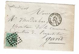 Lettre 30  Obl  LP  325 + Càd St Josse-Ten-Noode (B) - 1869-1883 Leopold II.