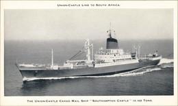 UNION-CASTLE LINE SOUTH AFRICA Mail Ship SOUTHAMPTON CASTLE 1960 - Paquebots
