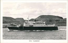 """R.M.S. """"CLANSMAN"""" Schiffsfoto Fähre Fährschiff Schiff Ship 1960 - Schiffe"""