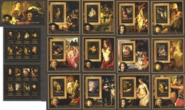 2011 REPUBLIQUE CENTRAL AFRICA CENTRAFRICAINE ART PAINTINGS REMBRANDT VAN RIJN 13BL+2KB MNH - Rembrandt