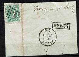 Frgt 30  Obl  LP  77 Charleroi Vers Gilly + Inconnu + Rebut - 1869-1883 Léopold II