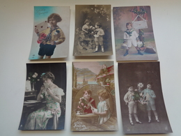 Beau Lot De 60 Cartes Postales De Fantaisie Lettres  Lettre     Mooi Lot Van 60 Postkaarten Fantasie Brieven  Brief - Cartes Postales