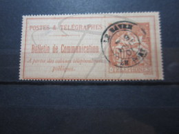 """VEND TIMBRE TELEPHONE DE FRANCE N° 18 , OBLITERATION """" LE HAVRE - LE PORT """" !!! - Telegraph And Telephone"""
