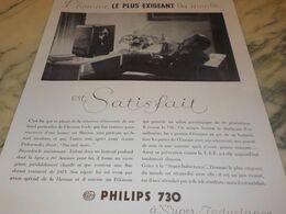 ANCIENNE PUBLICITE  TSF  PHILIPS  730 1932 - Autres
