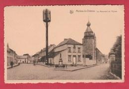 Merbes-le-Château - Le Monument Et L'Eglise - 1954 ( Voir Verso ) - Merbes-le-Château