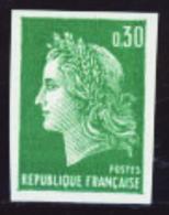 France Non Dentelés N°1611 30c Vert Marianne De Cheffer Qualité** - Francia