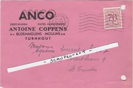 TURNHOUT-UITNODIGINGSKAART-BUSREIS-1952-ANCO-FABRIEK-BLOEMMOLENS-A.COPPENS-MOOI-ZIE 2 SCANS ! ! ! - Turnhout