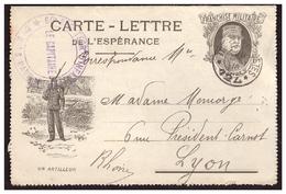 Carte Lettre De L'Espérance JOFFRE Un Artilleur - Militärpostmarken