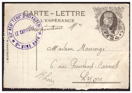 Carte Lettre De L'Espérance JOFFRE  Attaque Repoussée. 60 Regt Terral D'infanterie Du 24.5.16. - Militärpostmarken