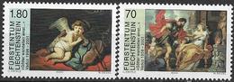 """2000  Liechtenstein   Mi. 1227-8 **MNH    . Kunstausstellung """"Götter Wandelten Einst ..."""", Vaduz - Ungebraucht"""