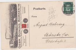 Gelopen Postwaardestuk Uit Borken (Deutschland) - Altri