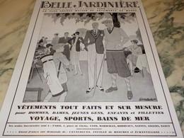 ANCIENNE PUBLICITE GOLF  MAGASIN BELLE JARDINIERE 1930 - Habits & Linge D'époque